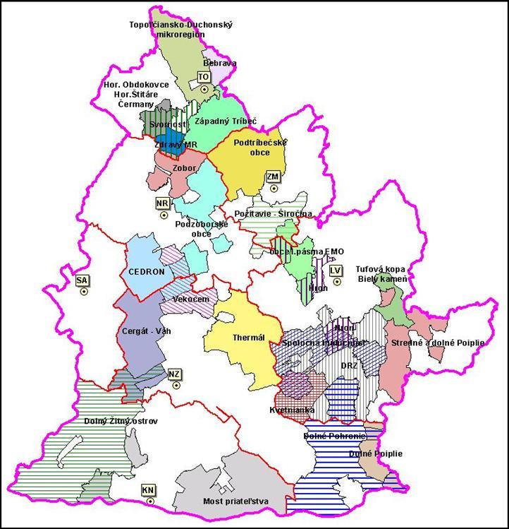 Mikroregióny Nitrianskeho kraja